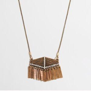 🆕 J. Crew Factory fringe crystal pendant necklace
